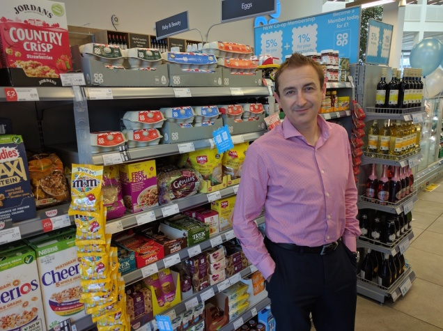 Photograph of Steve Logue in a Co-op Food store
